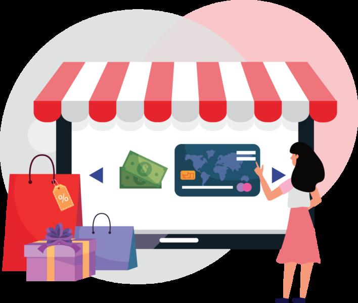 Thandelspand Illustration Online Shopping